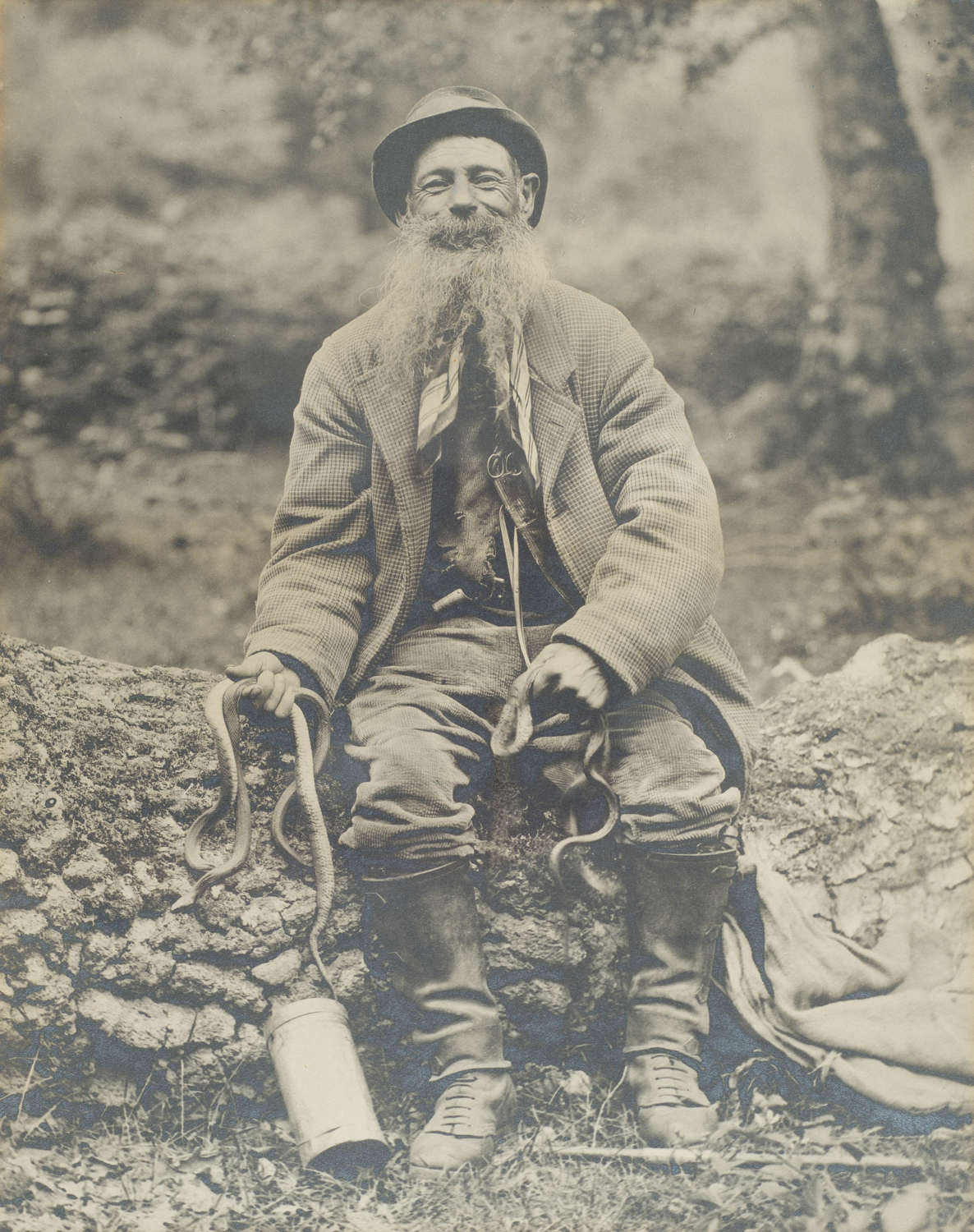 PHOTOGRAPH OF BRUSHER MILLS, THE NEW FOREST SNAKE CATCHER