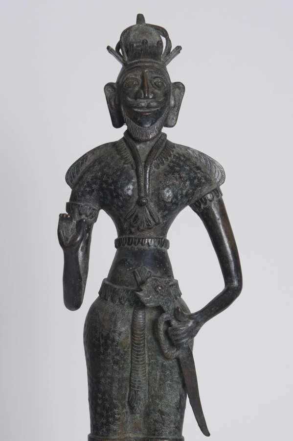SRI LANKAN BRONZE FIGURE, 19TH CENTURY