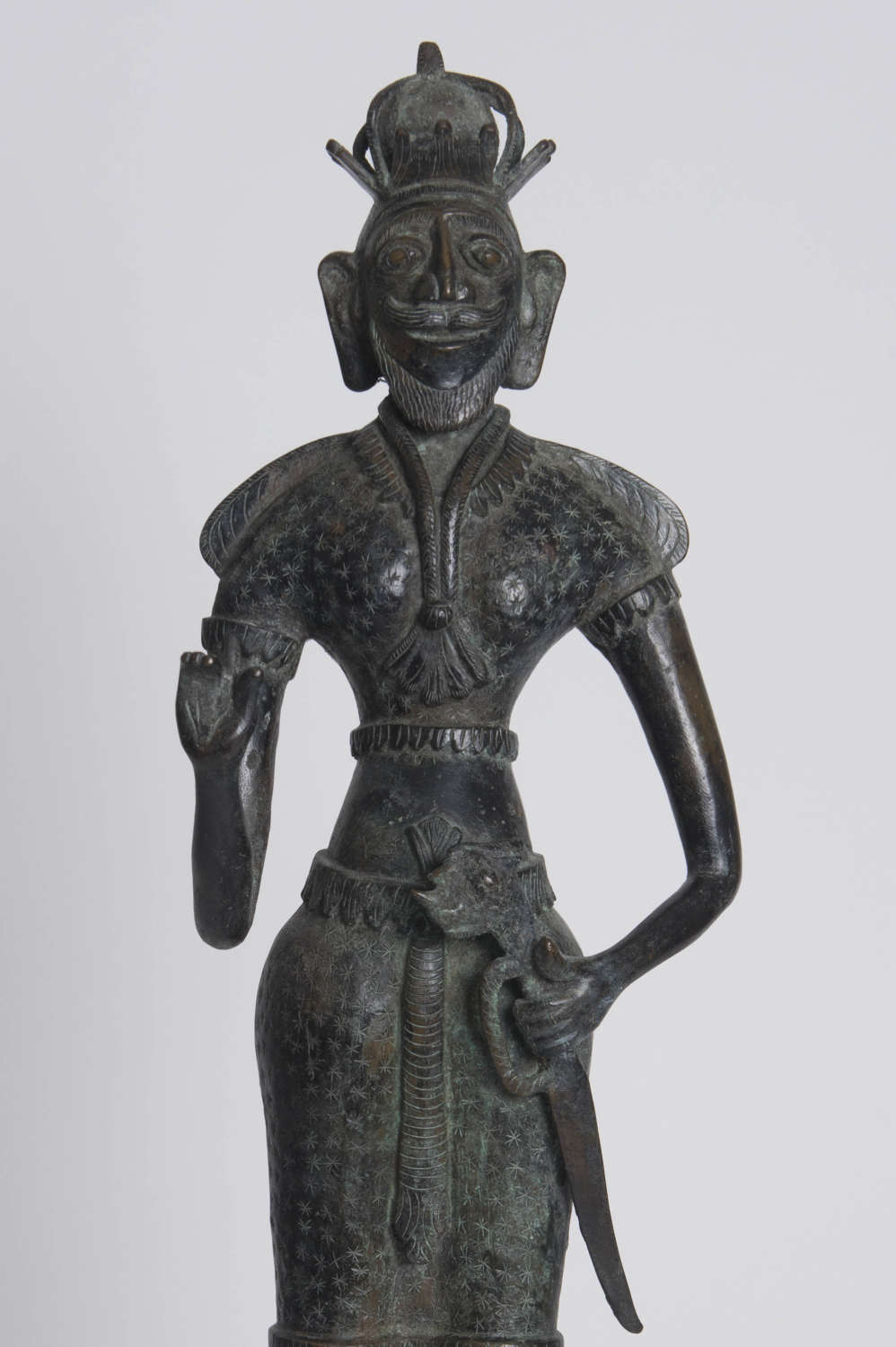SRI LANKAN BRONZE FIGURE, 19TH CENTURY