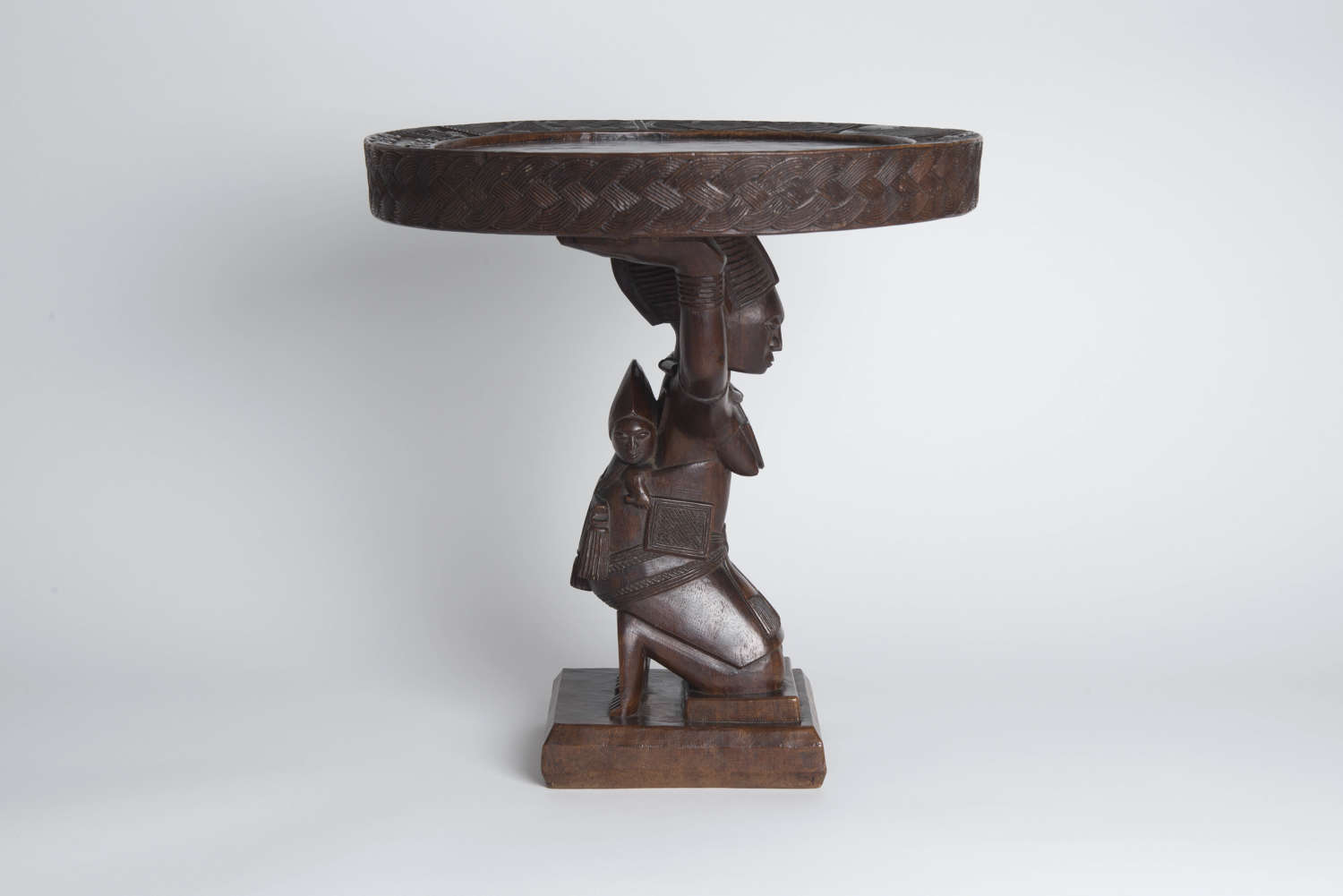 FINELY CARVED YORUBA TABLE
