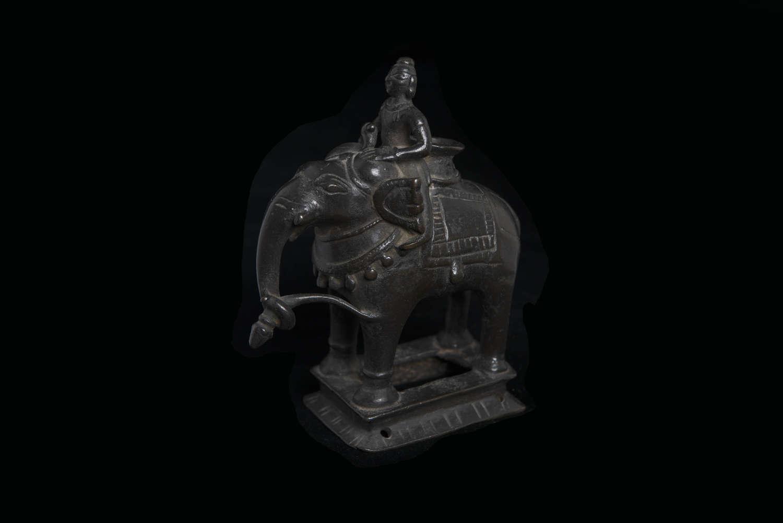 INDIAN BRONZE OIL LAMP 18TH CENTURY
