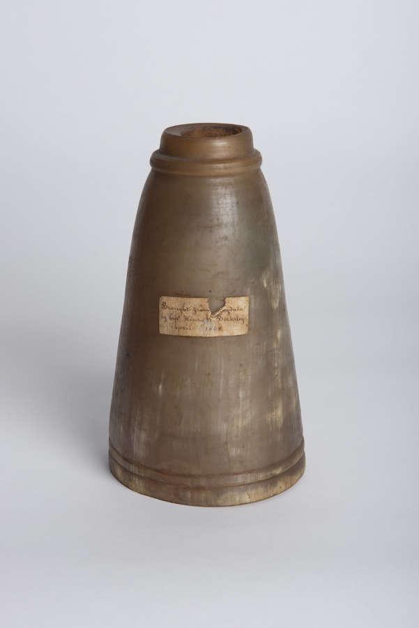 MAGDALA POWDER HORN DATED 1868