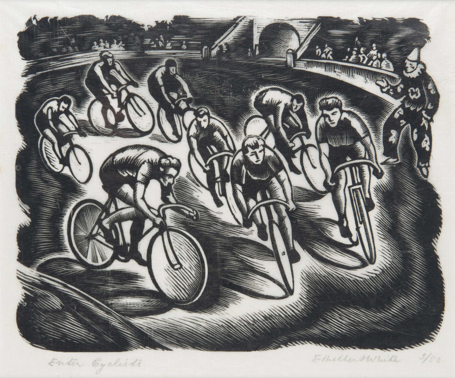 'Enter Cyclists' Ethelbert White (1891-1972)