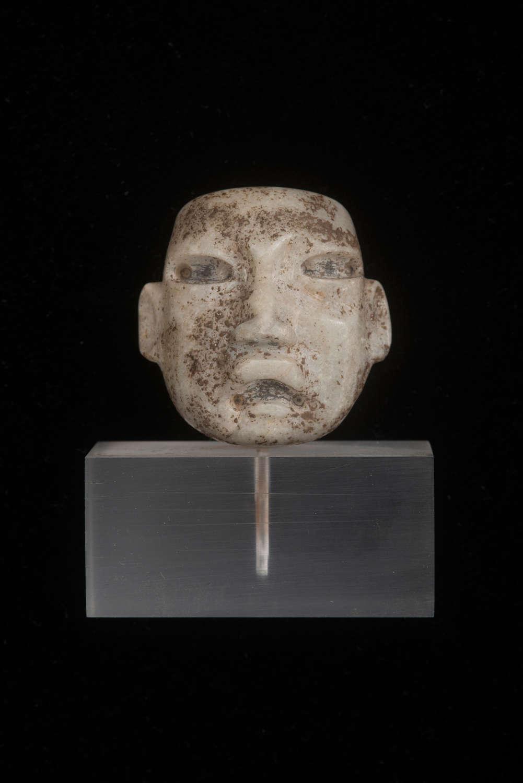 Olmec hardstone head